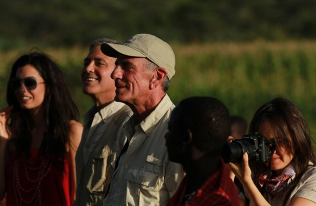 George-took-Amal-safari