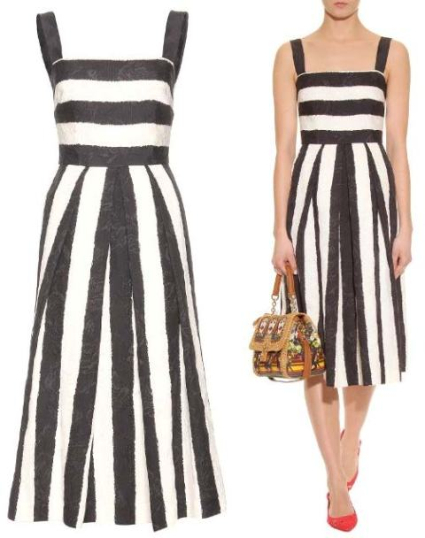DOLCE-GABBANA-STRIPED-JACQUARD-DRESS