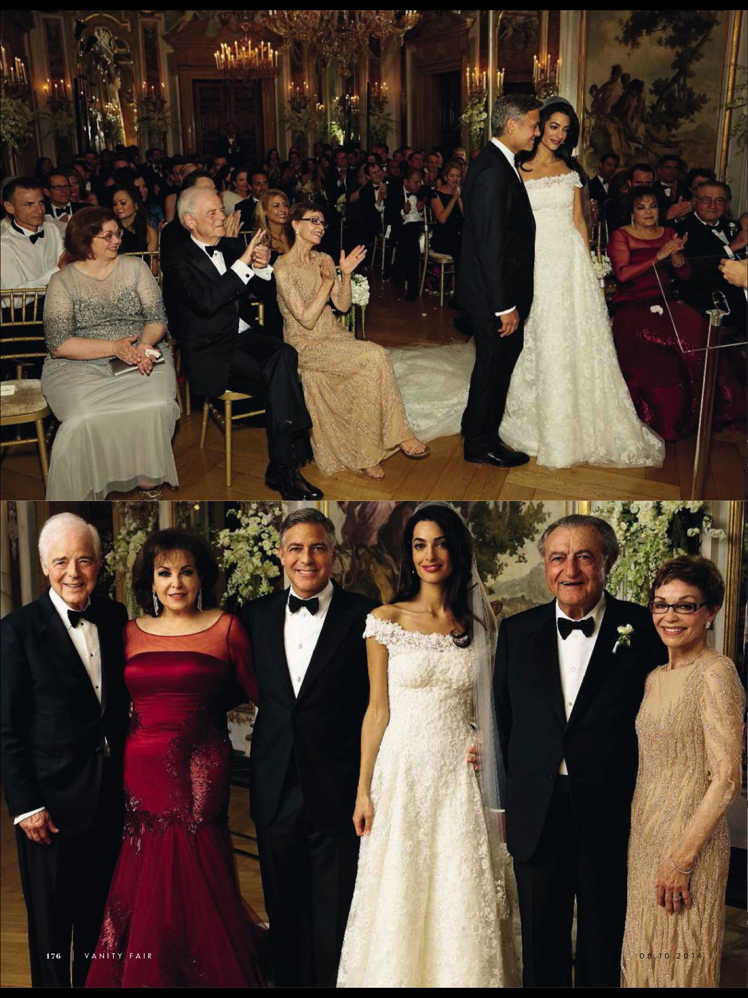 Amal alamuddin and george clooney in vanity fair italy amal clooney style - Photo de mariage ...