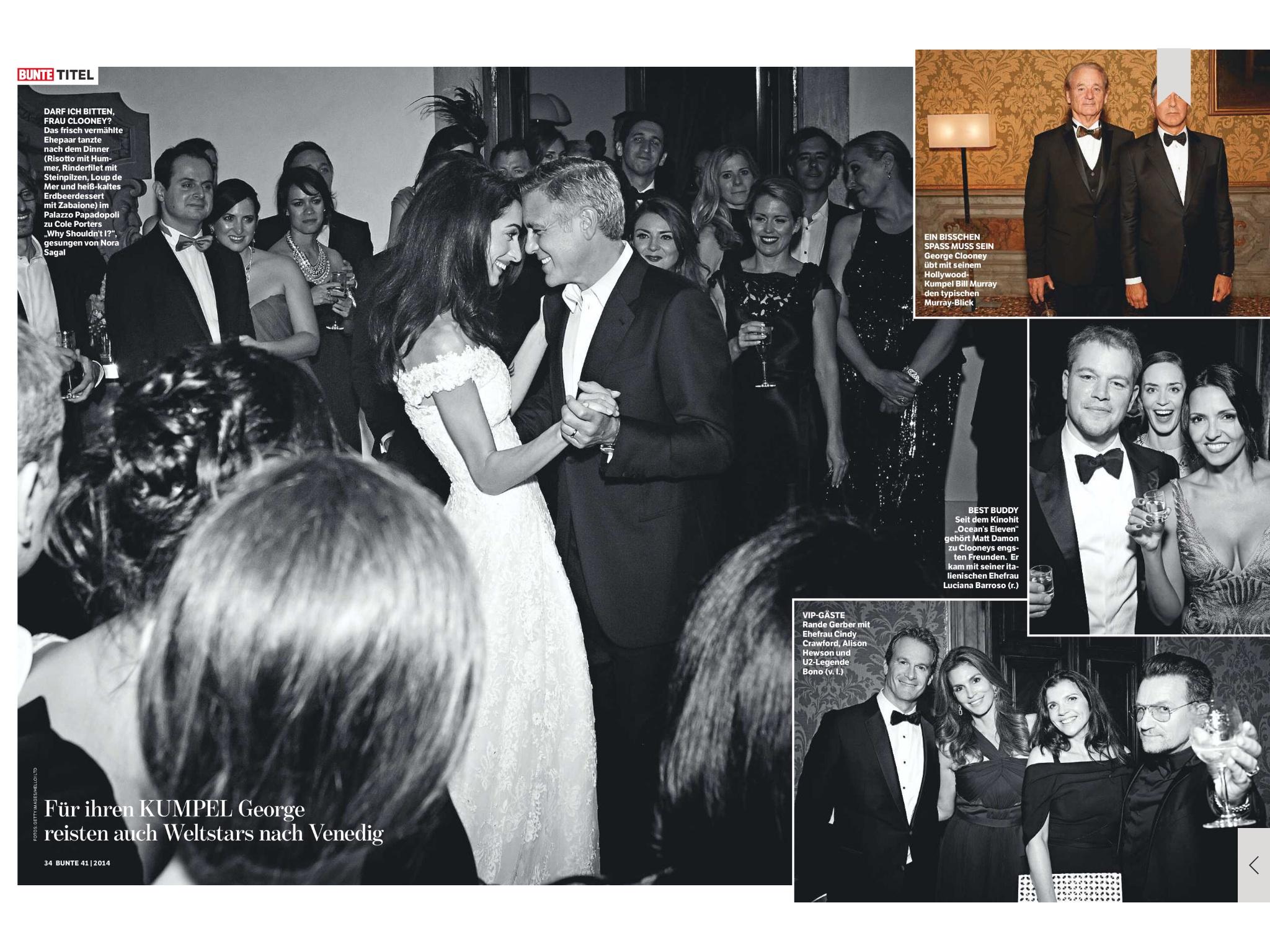 Hochzeit  Amal Clooney Style