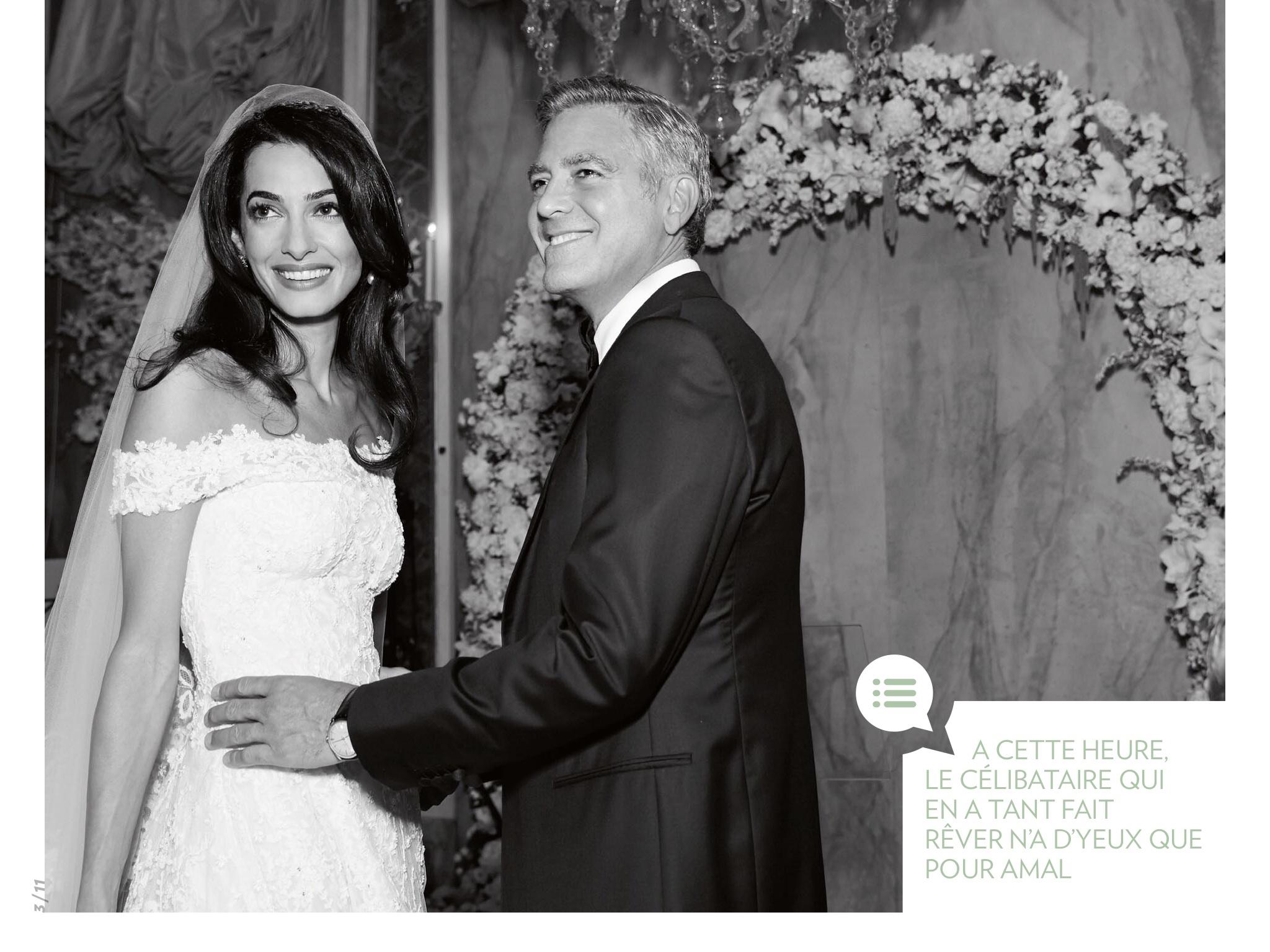 Amal Alamuddin And George Clooney Wedding In Paris Match Magazine Amal Clooney Style