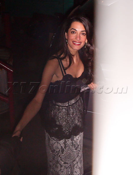 PREMIUM EXCLUSIVE George and Amal out at night in Hollywood