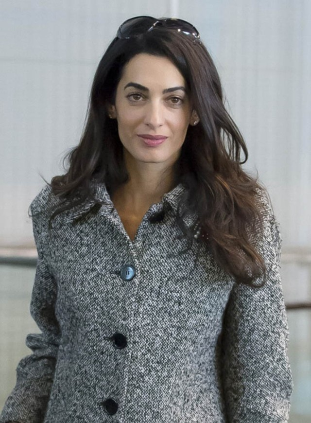 131887, EXCLUSIVE: Amal Alamuddin Clooney seen at EuroAirport Ba