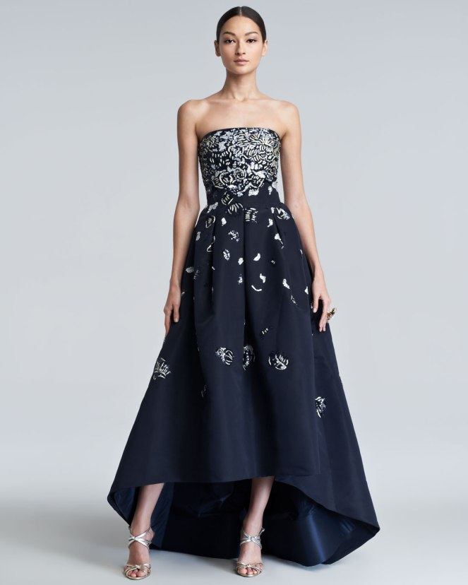 Oscar-de-la-Renta-Embellished-High-Low-Gown