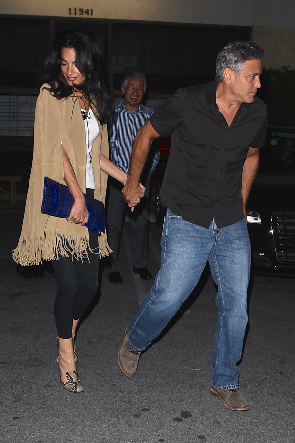 *EXCLUSIVE* George Clooney and Amal Celebrate First Valentines Day Since they Got Hitched **MUST CALL FOR PRICING**
