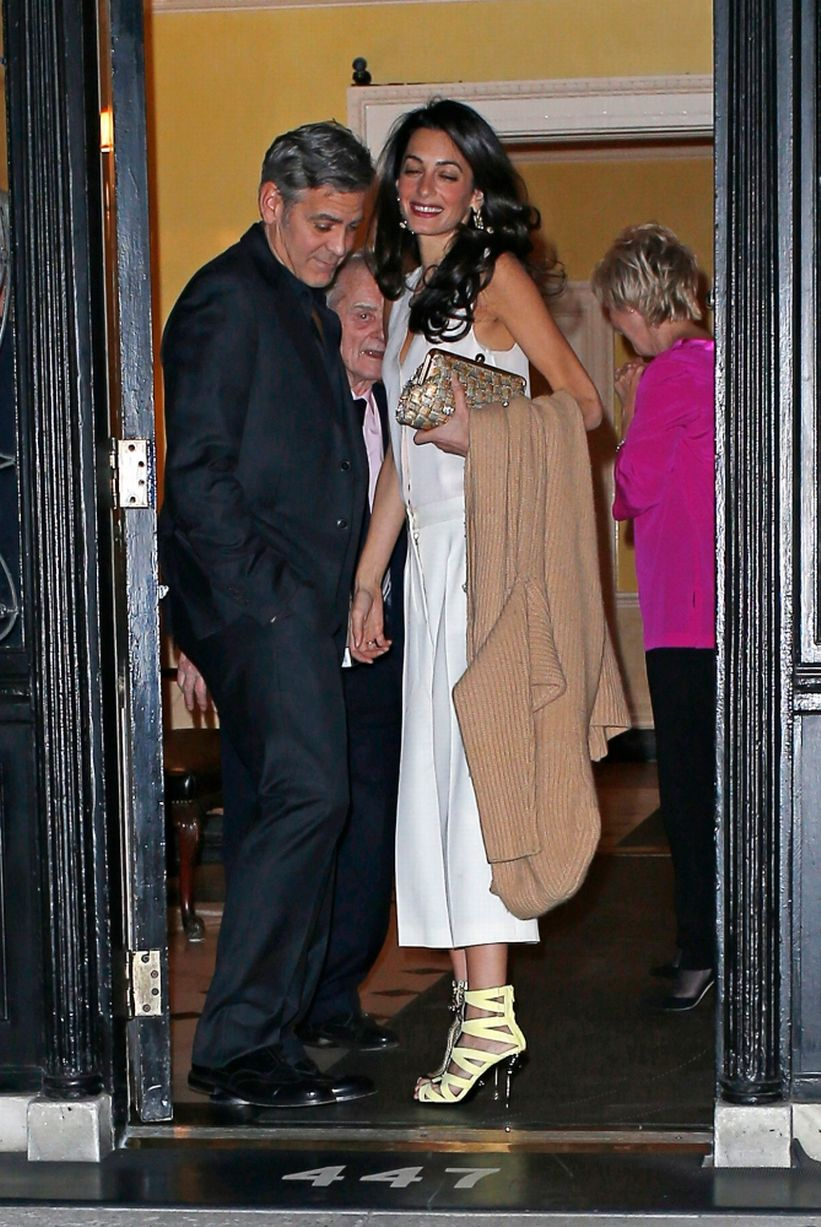 Yellow Sandals Amal Clooney Style