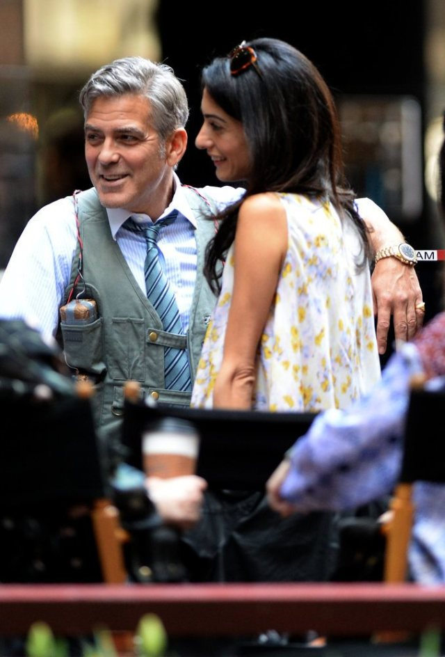 Amal-Alamuddin-Visits-George-Clooney-Money-Monster-Set (1)