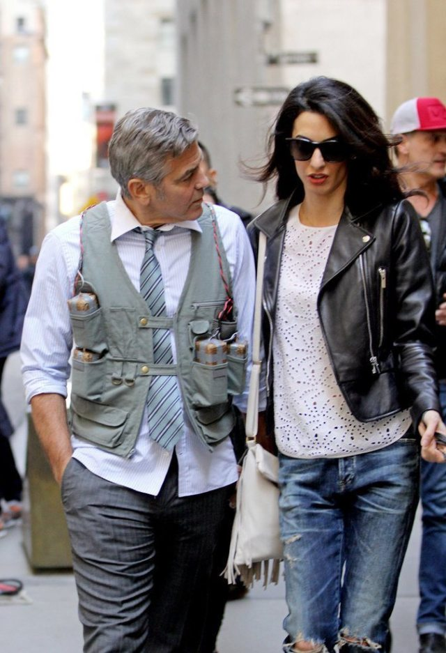 Amal-Alamuddin-Visits-George-Clooney-Set-His-Dog (10)
