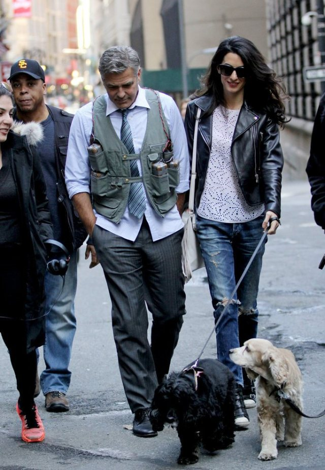 Amal-Alamuddin-Visits-George-Clooney-Set-His-Dog (11)