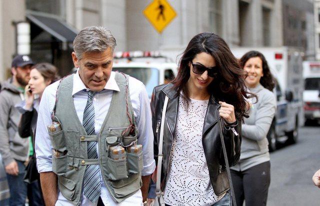 Amal-Alamuddin-Visits-George-Clooney-Set-His-Dog (12)