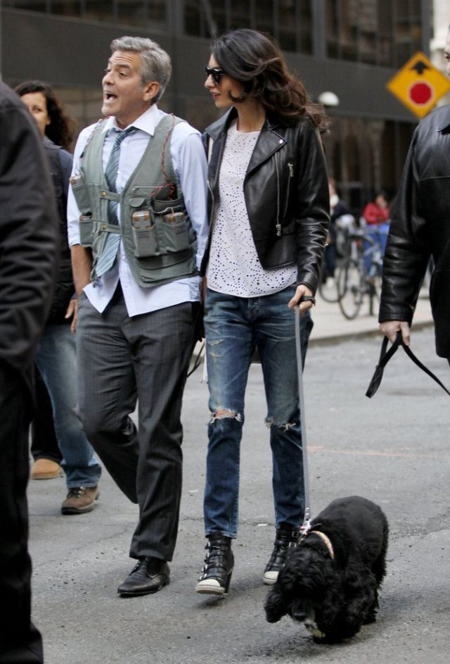 Amal-Alamuddin-Visits-George-Clooney-Set-His-Dog (13)