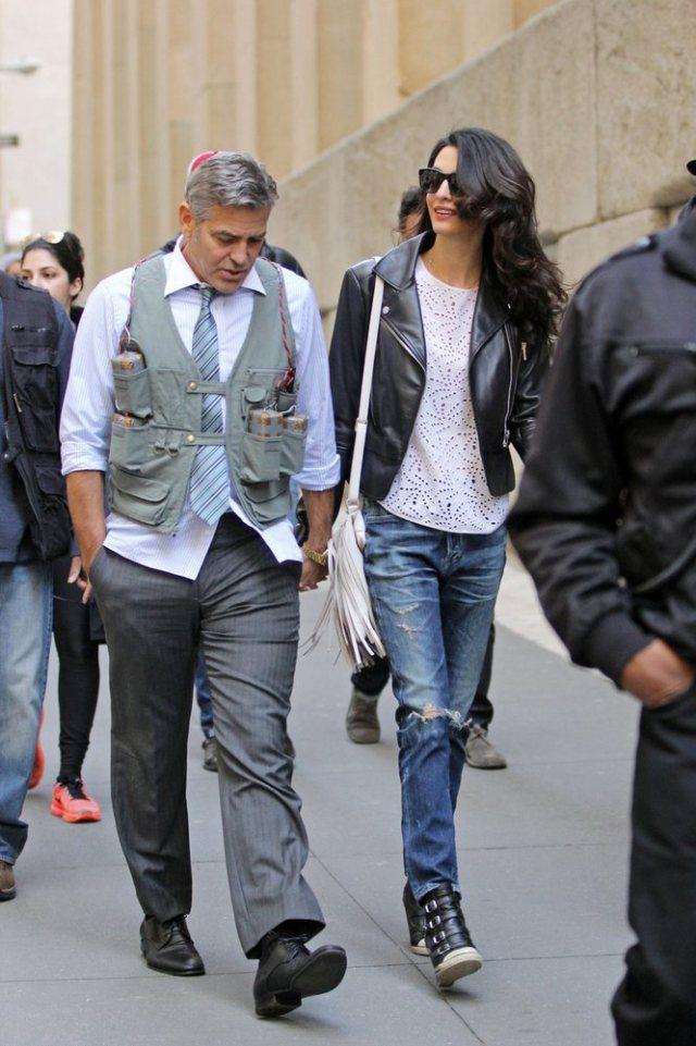 Amal-Alamuddin-Visits-George-Clooney-Set-His-Dog (14)