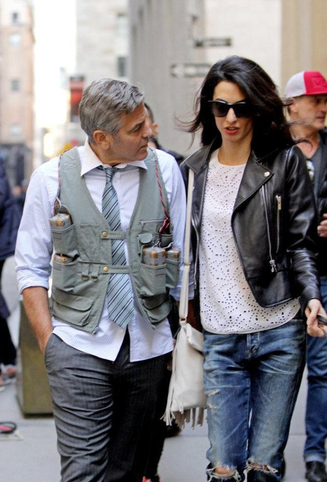 Amal-Alamuddin-Visits-George-Clooney-Set-His-Dog (3)