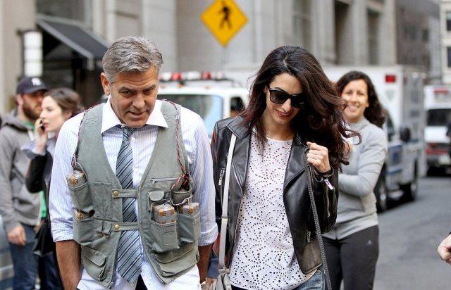 Amal-Alamuddin-Visits-George-Clooney-Set-His-Dog (5)