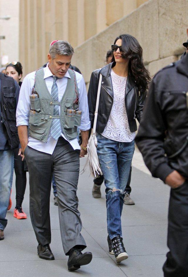 Amal-Alamuddin-Visits-George-Clooney-Set-His-Dog (7)