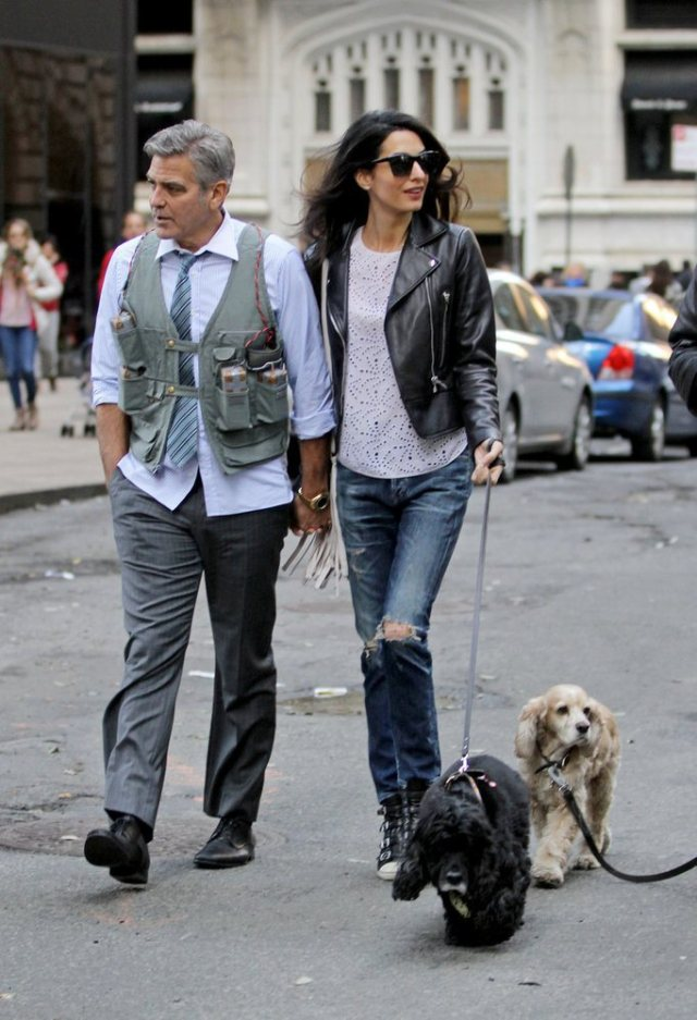 Amal-Alamuddin-Visits-George-Clooney-Set-His-Dog (8)