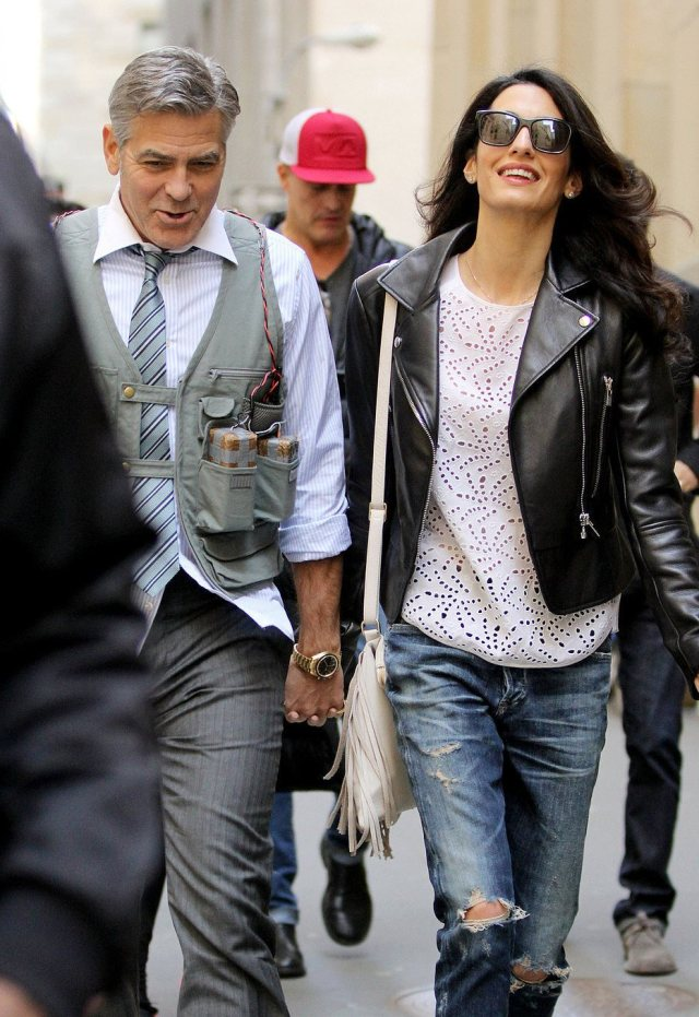 Amal-Alamuddin-Visits-George-Clooney-Set-His-Dog (9) (1)