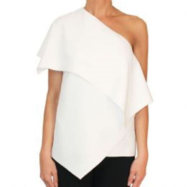 Balenciaga-White-Asymmetrical-Top-1712