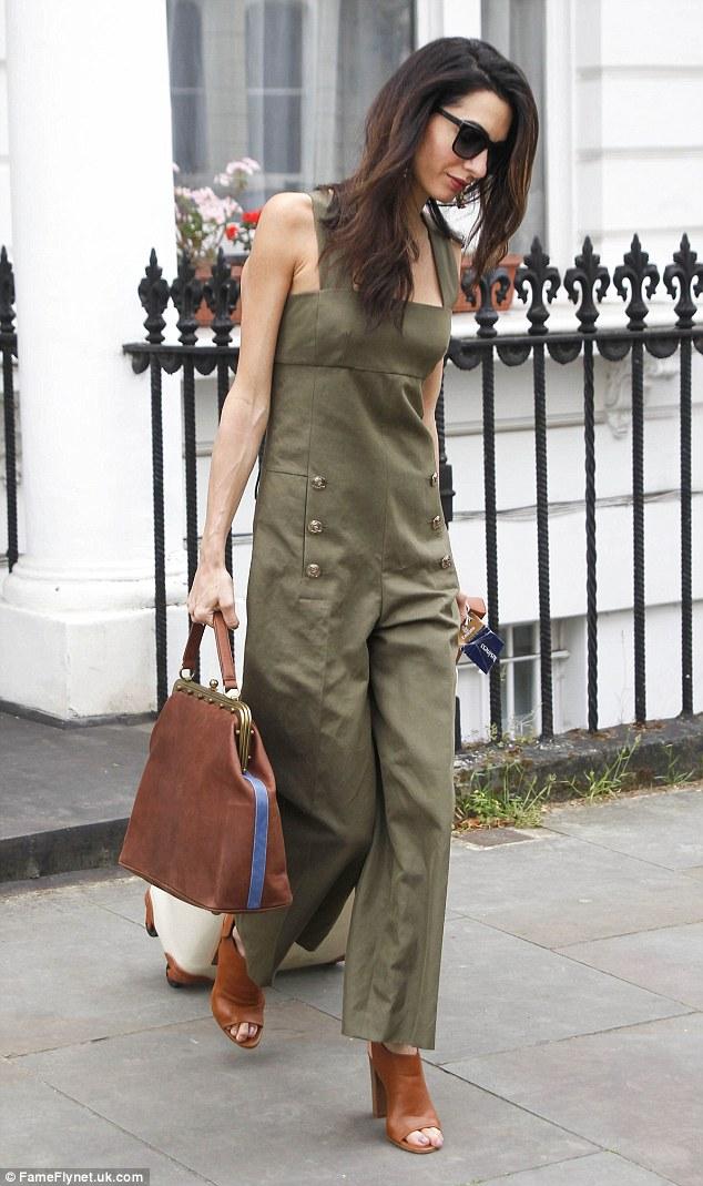 Amal Clooney in Sonia Rykiel leaving London 25 06 2015
