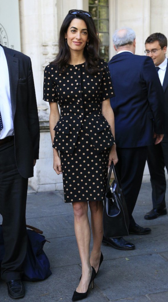Amal Clooney In Christian Dior Vintage At The Supreme