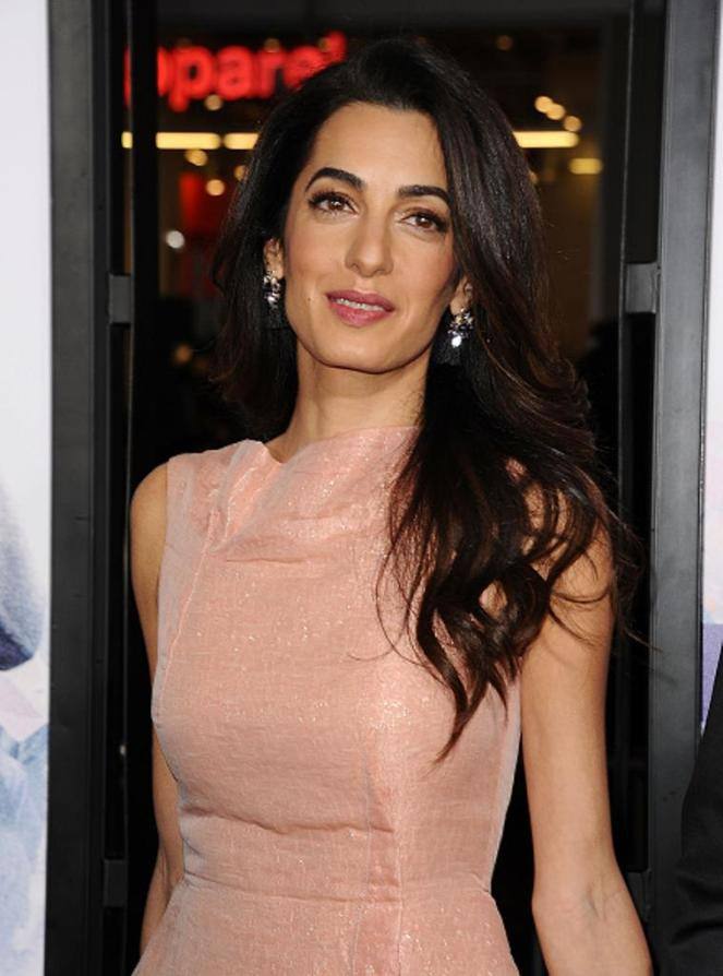 HOLLYWOOD, CA - OCTOBER 26: Amal Clooney attends the premiere of