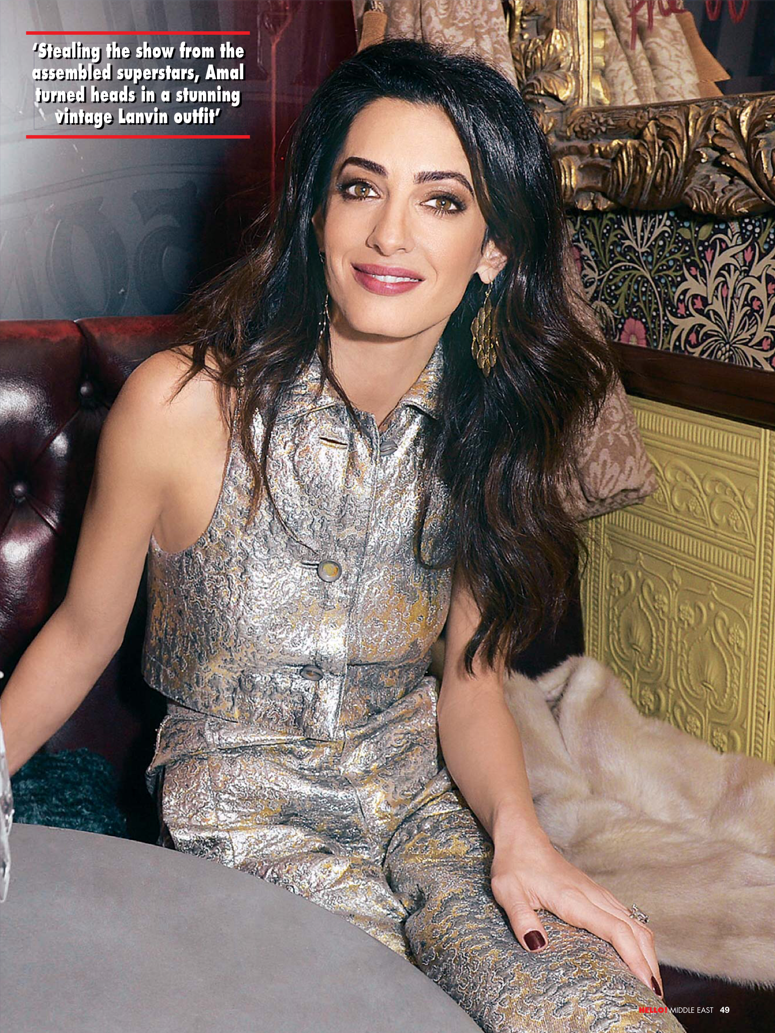 Amal Clooney on the cover of Hello ! Middle East 11.12.2015 | Amal ...