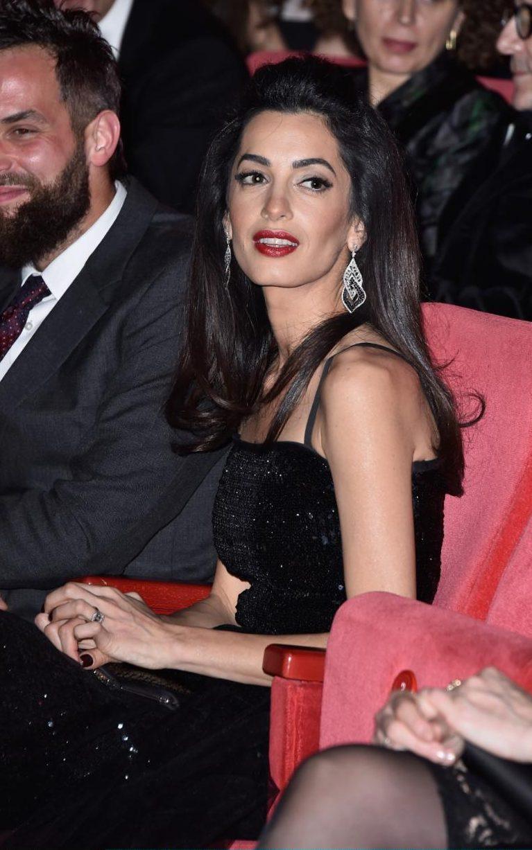 Amal Clooney Dazzles In Yves Saint Laurent Vintage At