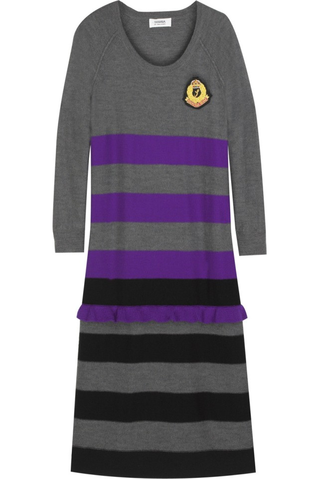 sonia-by-sonia-rykiel-gray-striped-wool-sweater-dress-product-1-2484072-123237919