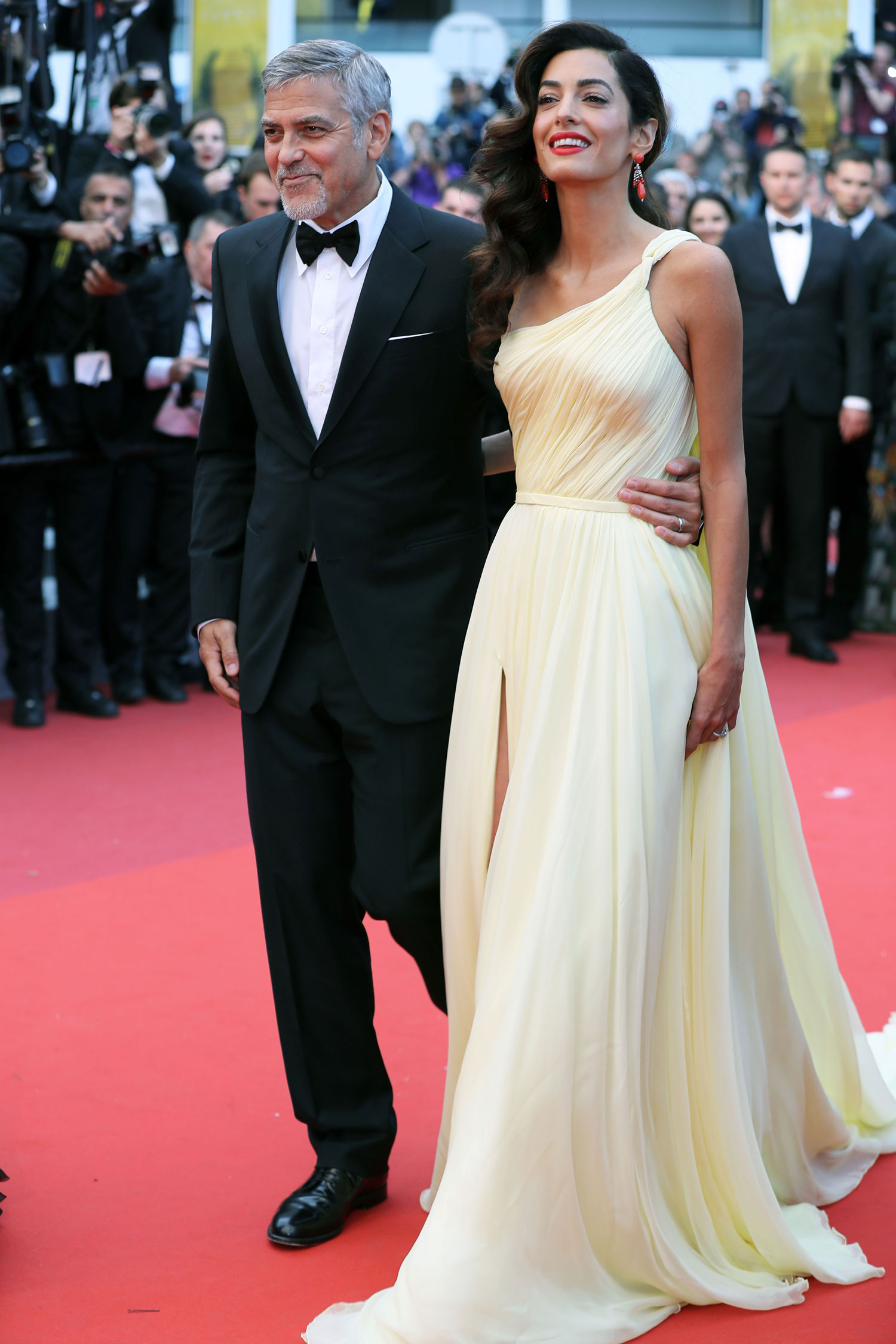 Amal Clooney On The Red Carpet Of Cannes In Atelier