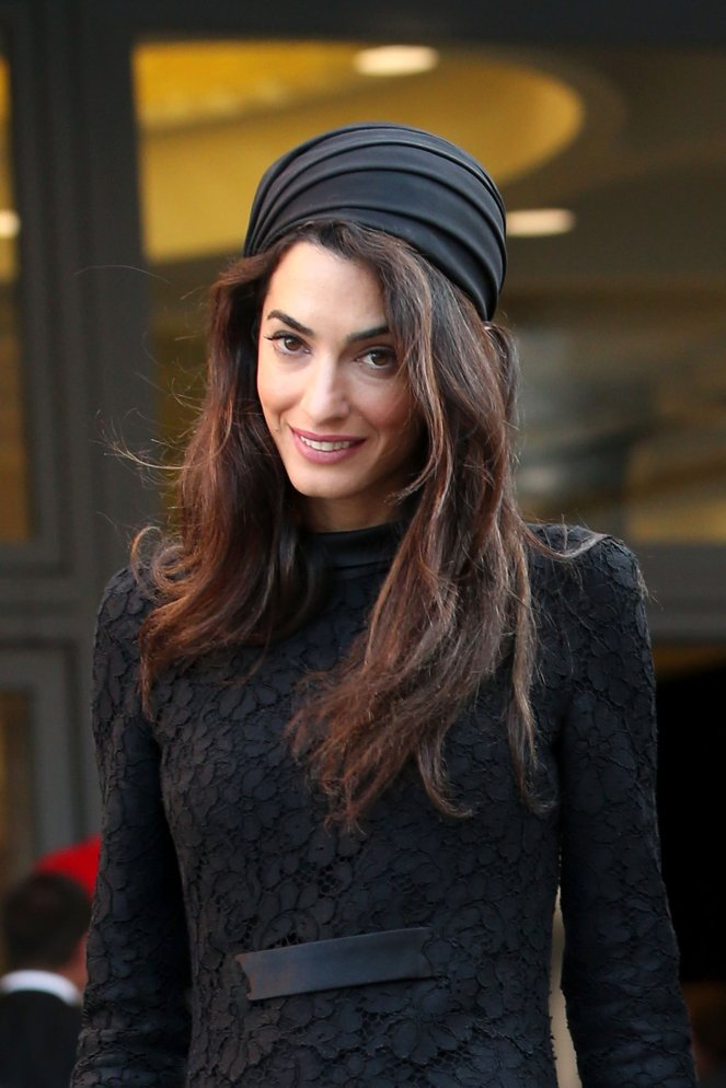 Amal-Clooney-Black-Lace-Dress-Seminary-Pope-Francis (3)