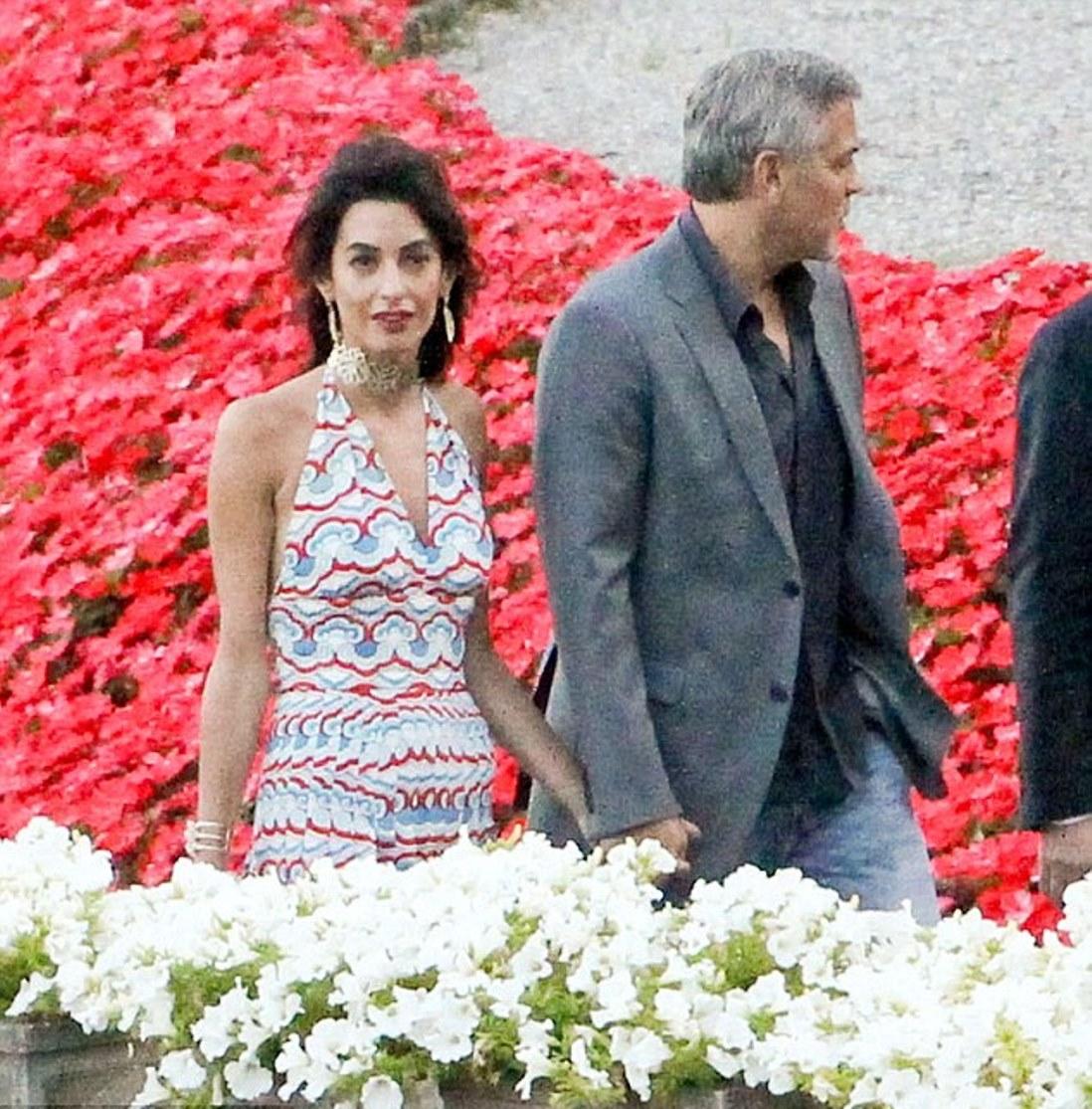Hotel Villa Deste Como: Amal Clooney Spotted In A Valentino Dress At The Villa D