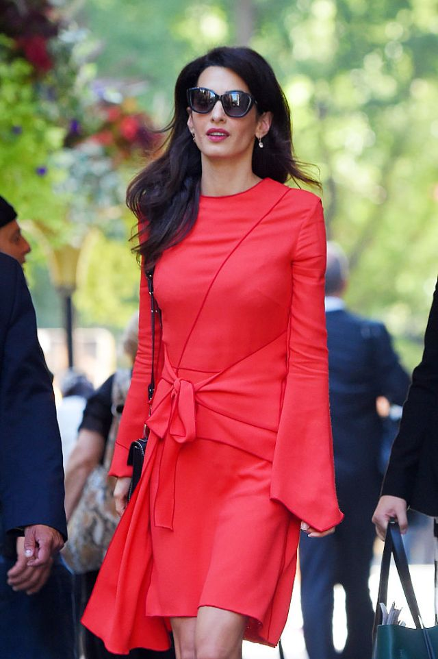 Amal Clooney Spotted In Proenza Schouler Leaving The