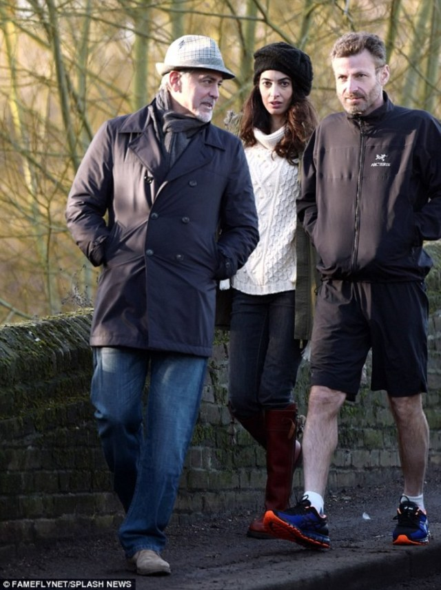 Amal And George Clooney Spotted Walking In Berkshire 11 01