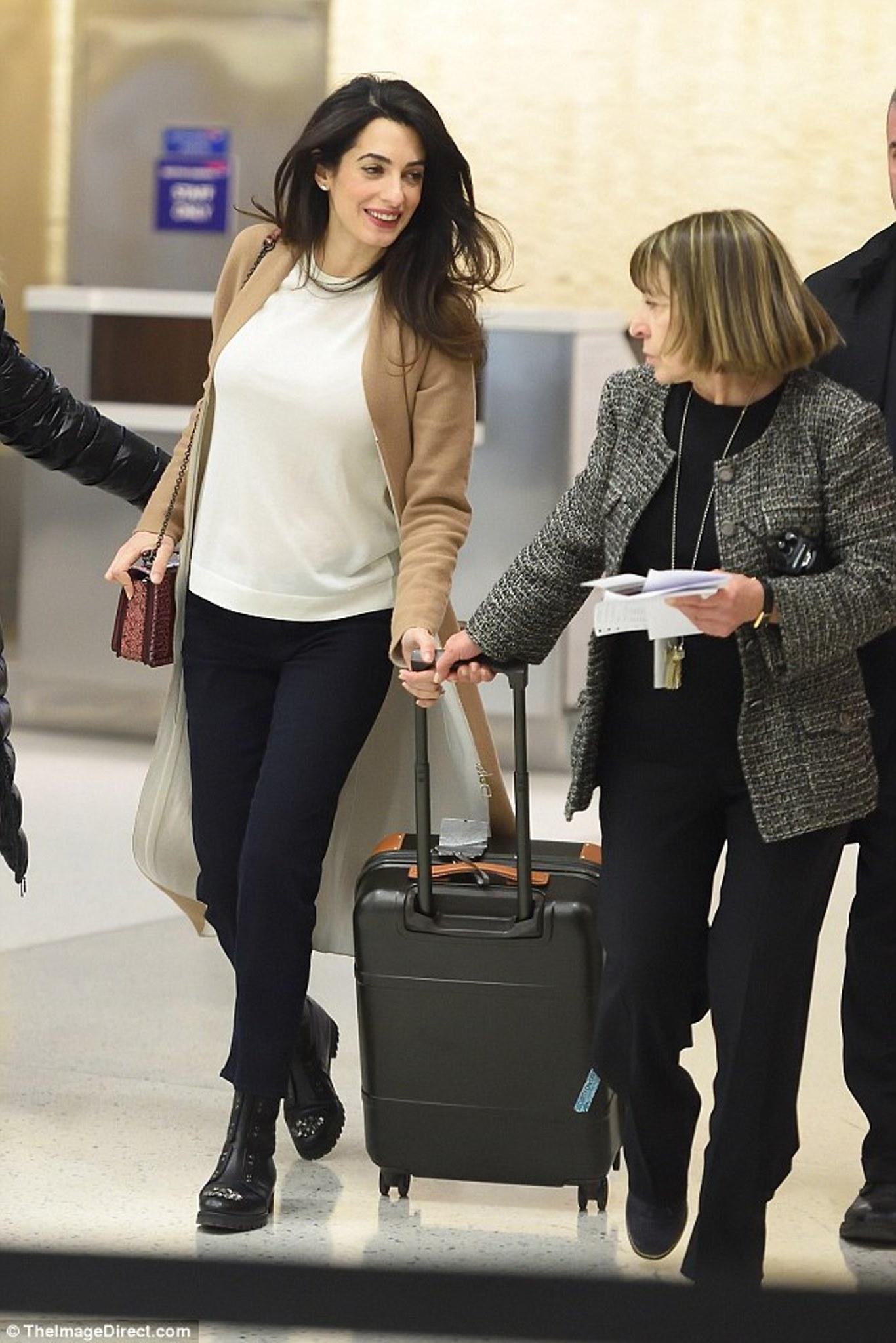 Amal Clooney Leaving New York On 10 03 2017 Amal Clooney