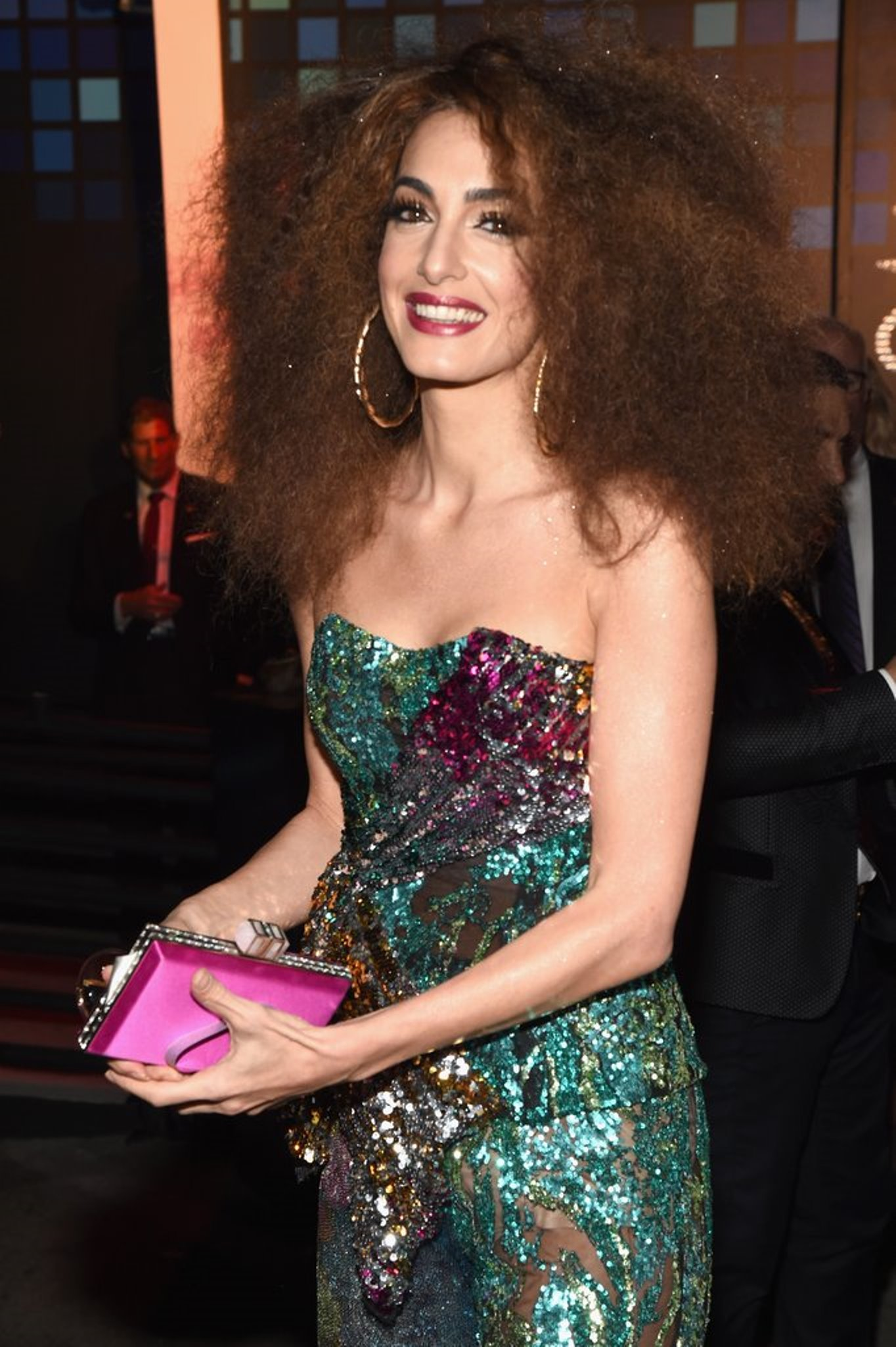 amal clooney in halpern for the casamigos halloween party