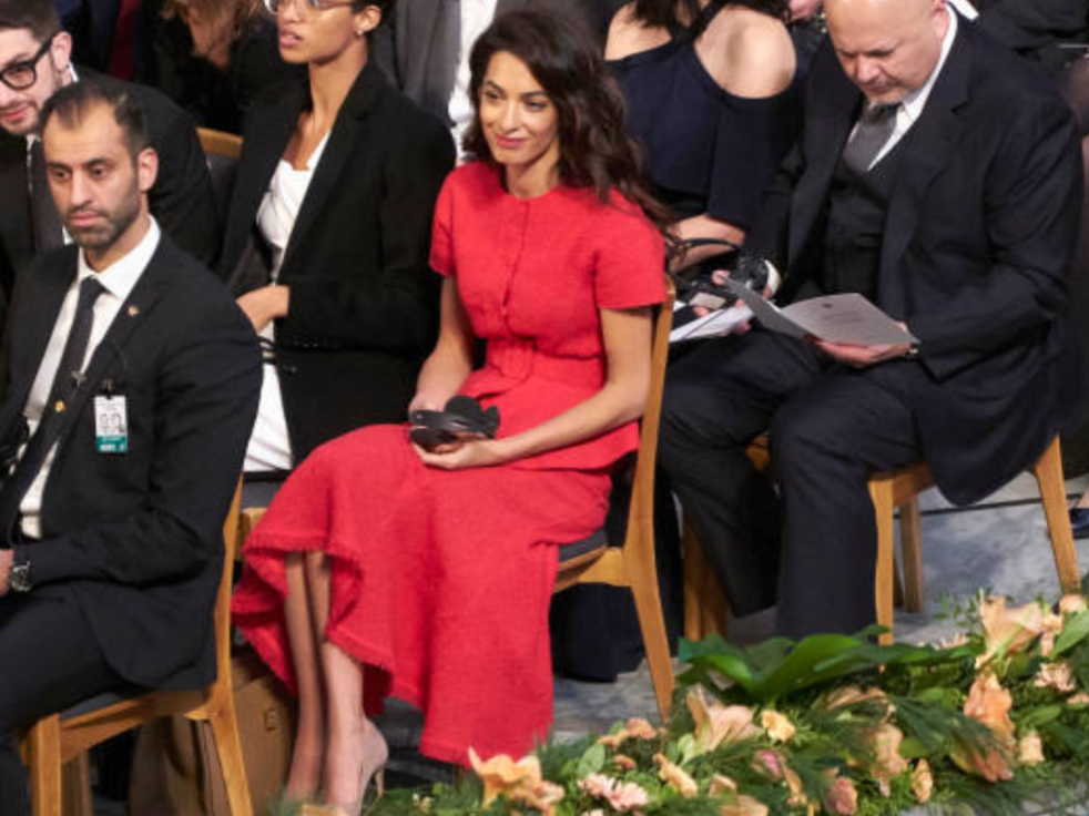 84d21739a5ae Amal Clooney At Nobel Peace Prize Ceremony in Oslo for Nadia Murad  10.12.2018